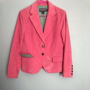 Vineyard vines medium pink Corduroy blazer